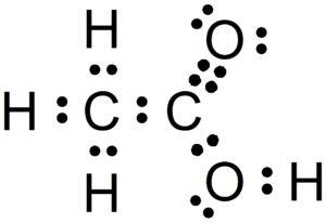酢酸のルイス構造式