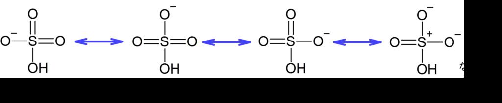硫酸水素イオンの共鳴
