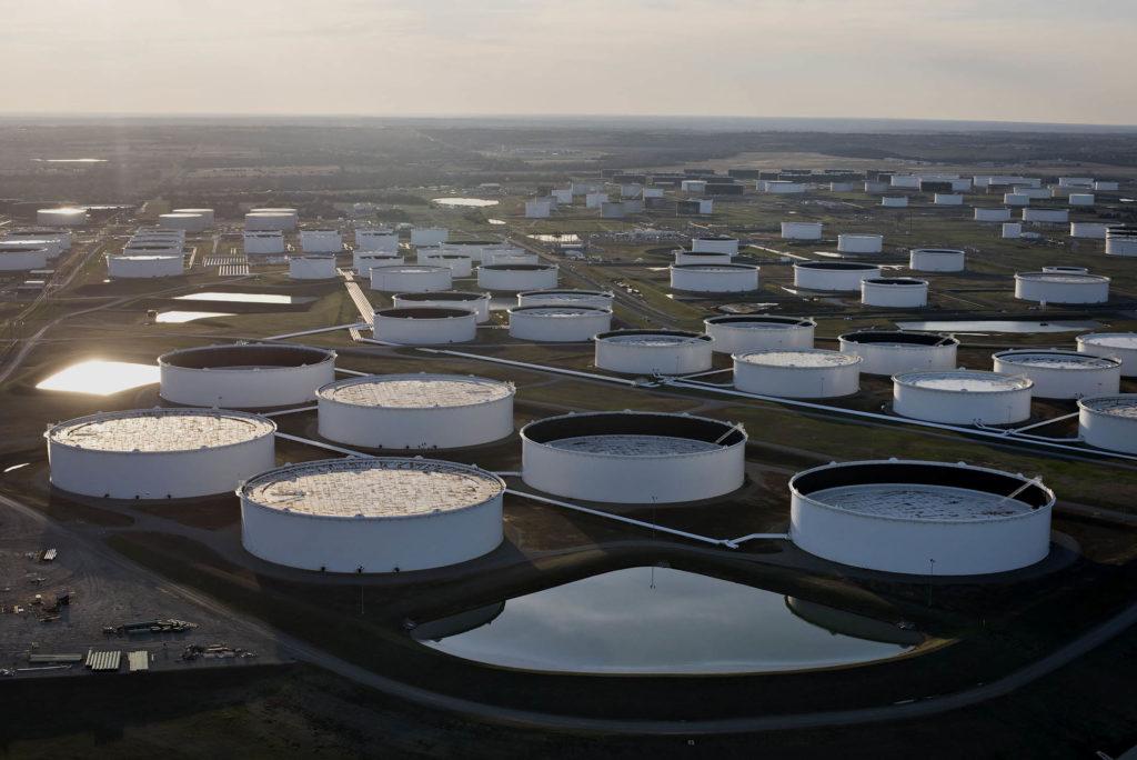 原油受け渡しタンク(オクラホマ)